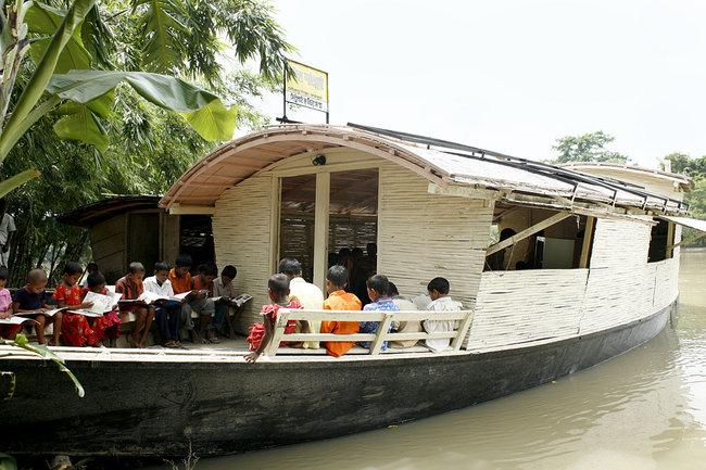 School on a boat - Bangladesh
